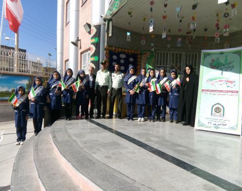 برگزاری مراسمی به مناسبت هفته نیروی انتظامی-14 مهرماه